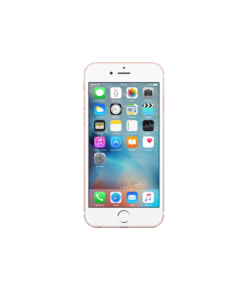 iPhone SE 16GB Ouro Rosa - 16GB - iOS 9 - 1.8 GHz Dual Core - Tela 4 ´ - Câmera 12MP - Desbloqueado - Recertificado