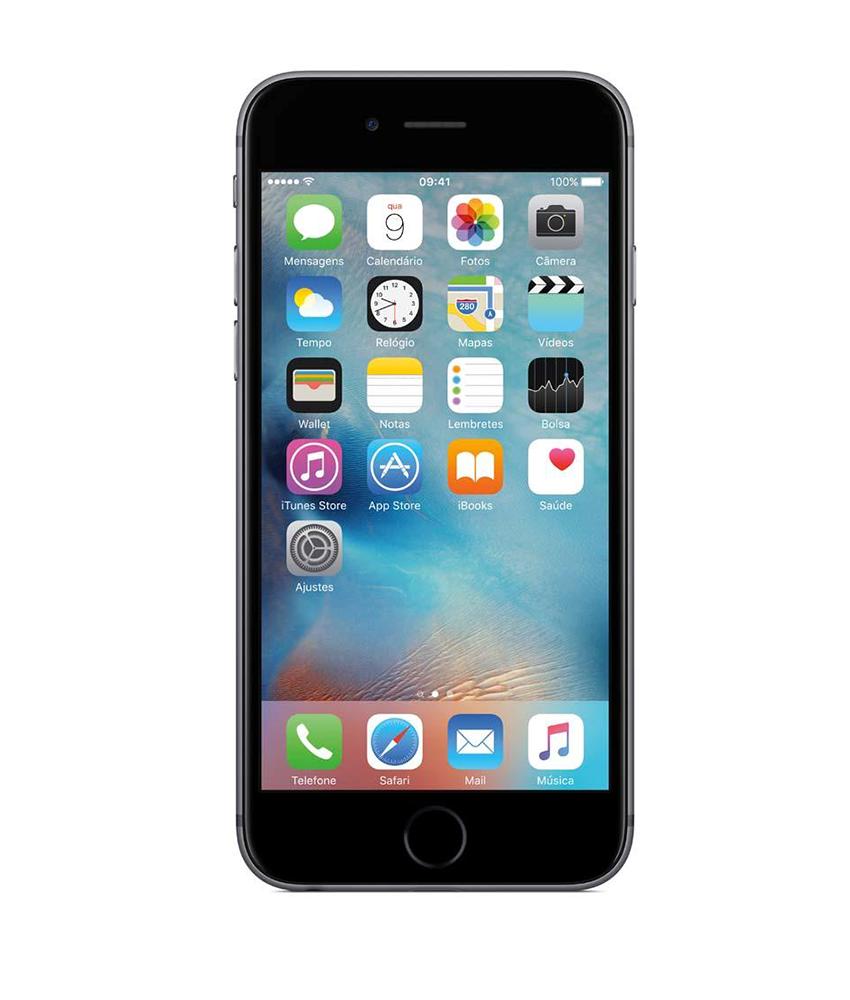 Iphone 6S 16GB Cinza Espacial - 16GB - iOS 9 - 2 GHz Dual Core - Tela 4.7 - Câmera 12 Mp - Desbloqueado - Recertificado