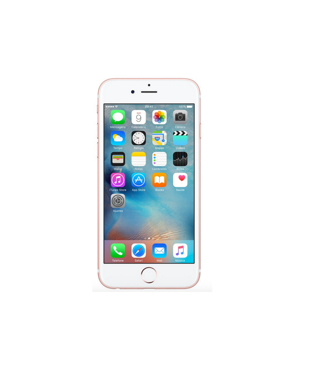 iPhone 6S 16GB Ouro Rosa - 16GB - iOS 9 - 2 GHz Dual Core - Tela 4.7 - Câmera 12 Mp - Desbloqueado - Recertificado