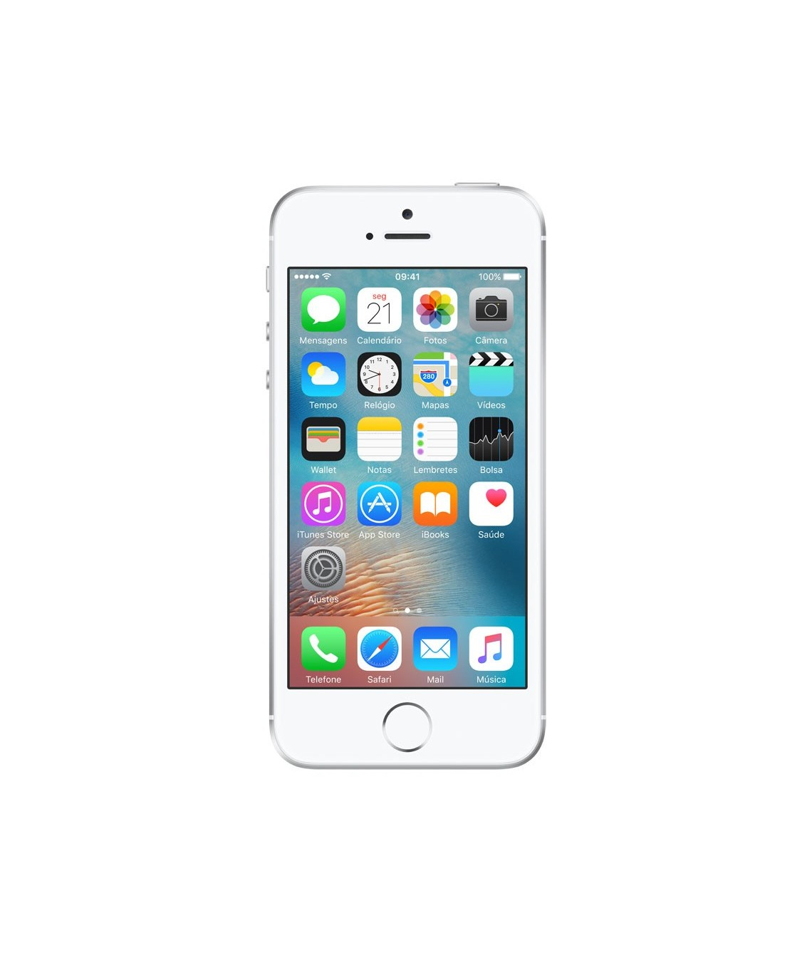 iPhone SE 16GB Prateado - 16GB - iOS 9 - 1.8 GHz Dual Core - Tela 4 ´ - Câmera 12MP - Desbloqueado - Recertificado