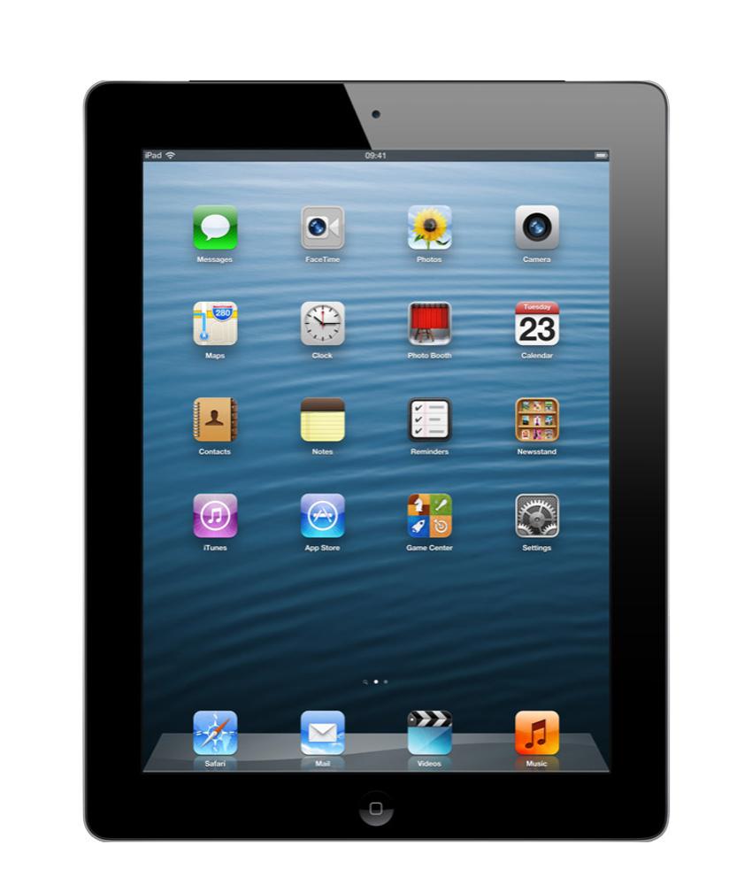 iPad 4 Wi - Fi + 4G 16GB Preto - 16GB - A6X dual - core - Tela 9.7 ´ - Câmera 5MP - Desbloqueado - Recertificado