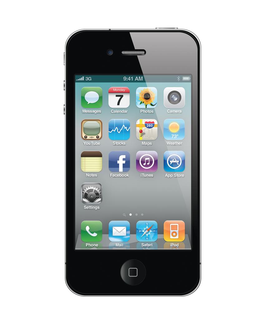 iPhone 4G 16GB Preto - 16GB - IOS - Apple A4 Single Core 800 MHz - Tela 3.5 ´ - Câmera 5MP - Desbloqueado - Recertificado