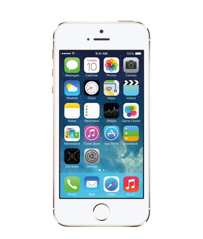 iPhone 5S 32GB Dourado - 32GB - IOS - Apple A7 Dual Core 1.3 GHz - Tela 4 ´ - Câmera 8MP - Desbloqueado - Recertificado