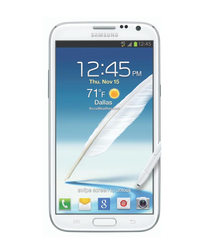 Samsung Galaxy Note II N7100 Branco - 16GB - Android 4.1 Jelly Bean - 1.6 GHz Quad Core - Tela 5.5 ´ - Câmera 8MP - Desbloqueado - Recertificado